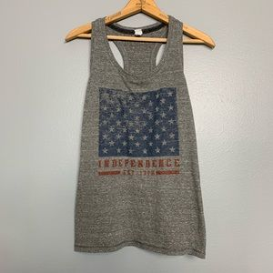 ALO YOGA | independence Racerback tank L